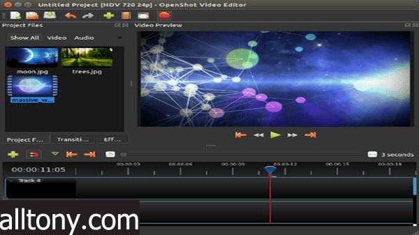 برنامج مونتاج فيديو احترافي مجاني للكمبيوتر للمبتدئين
