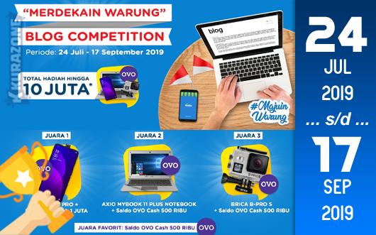 Kompetisi Blog - Kudo Merdekain Warung Berhadiah Gadget+Saldo OVO (Total Hingga 10 Juta Rupiah)