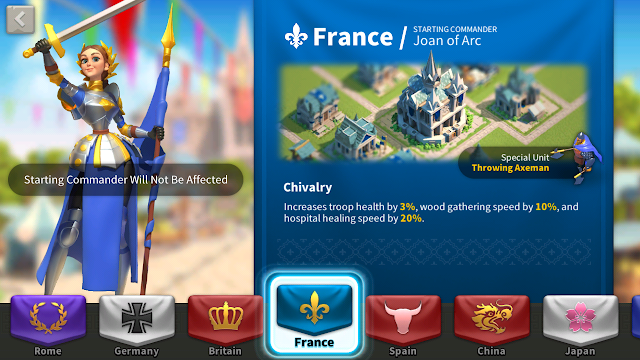 Daftar Buff dan Spesial Unit Civilization di Game Rise of Kingdoms
