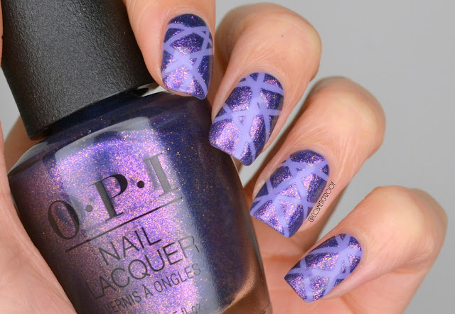 Purple Taping Manicure