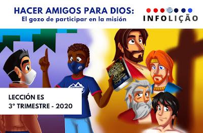 Infografías de Escuela Sabática   Infolección   3er Trimestre 2020   Hacer amigos para Dios