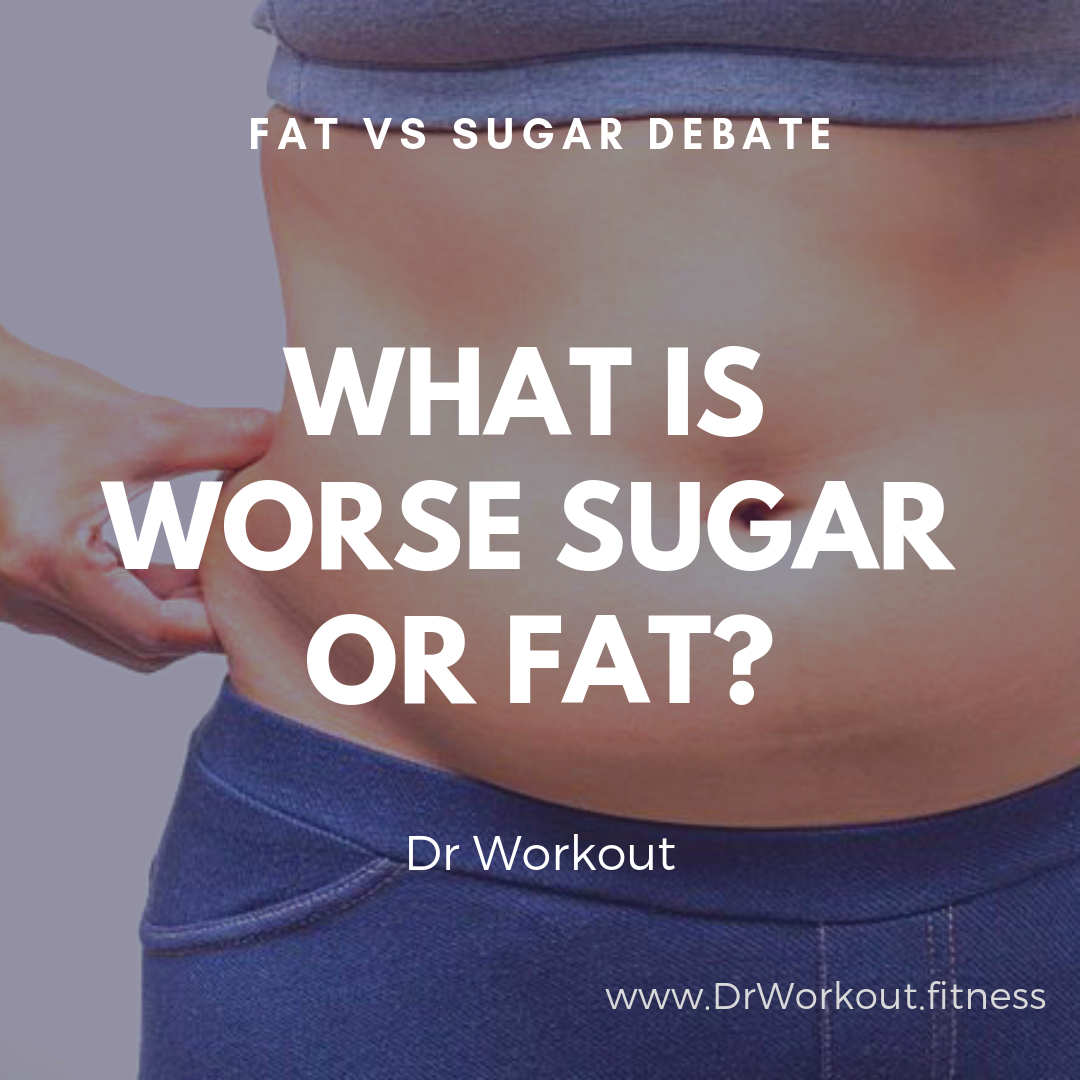 What is worse sugar or fat