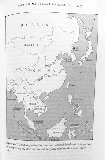 Page 327. Figure 16.2. Modern political borders in East and Southeast Asia, for use in interpreting the distributions of language families shown in Figure 16.1.