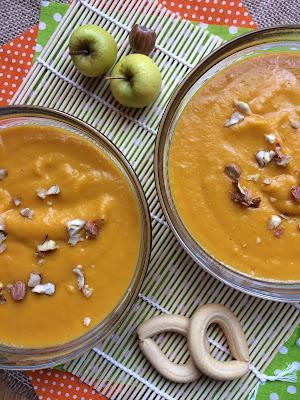 Crema de zanahoria y manzana. Una receta saludable, fácil y deliciosa