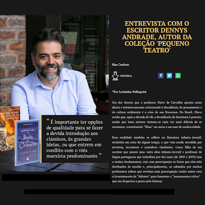 Entrevista do escritor Dennys Andrade para a Revista Terça Livre