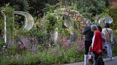 Exhibición de plantas e instalaciones florales en Chelsea Flower Show 2019