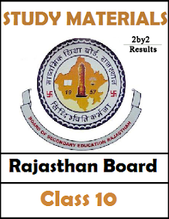 Rajasthan Board 10th Model Question papers all Subjects PDF