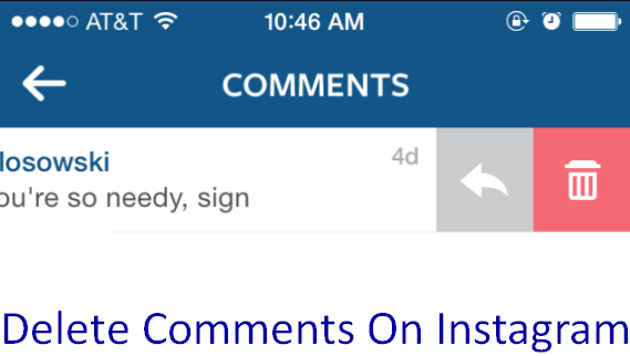 Delete Comments On Instagram