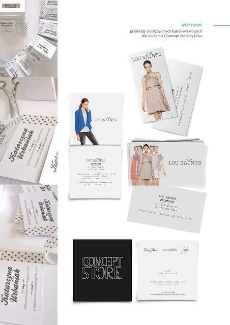 wizytówki moda fashion projekty grafika