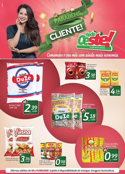 Parabéns, cliente! Venha comemorar com as ofertas do Supermercado Pai e Filho!