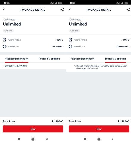 Paket 4G Unlimited Telkomsel 7 Hari Rp 10.000