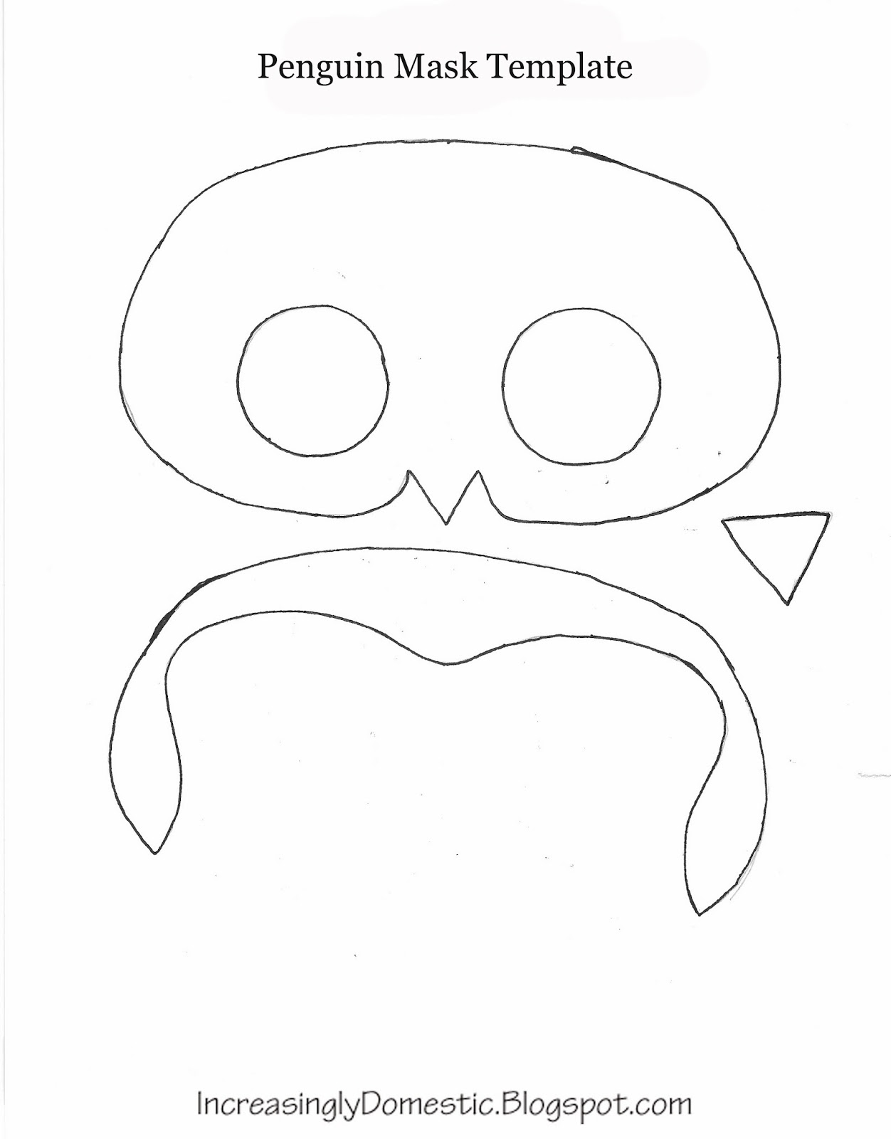 Increasingly Domestic   Tutorial  Penguin Mask