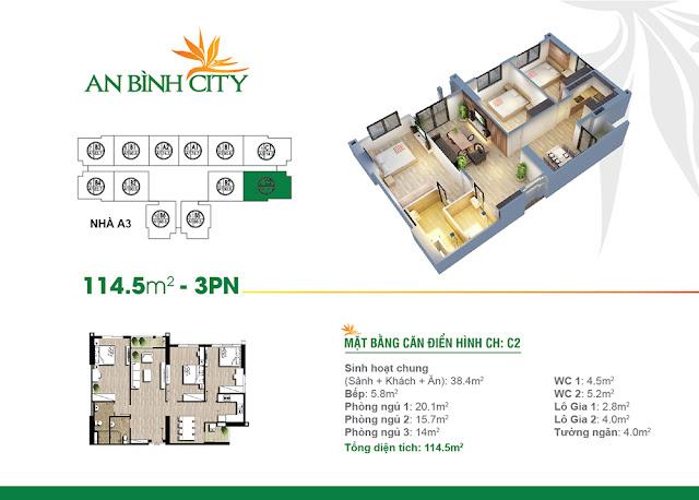 căn 114m2 chung cư An Bình City