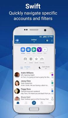 تحميل تطبيق ادارة البريد الالكتروني BlueMail