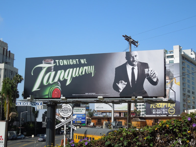 Idris Elba Tonight Tanqueray billboard