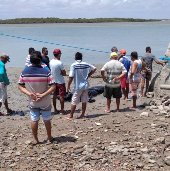 Corpo de pescador desaparecido é encontrado boiando no Rio ivipanim em Areia Branca