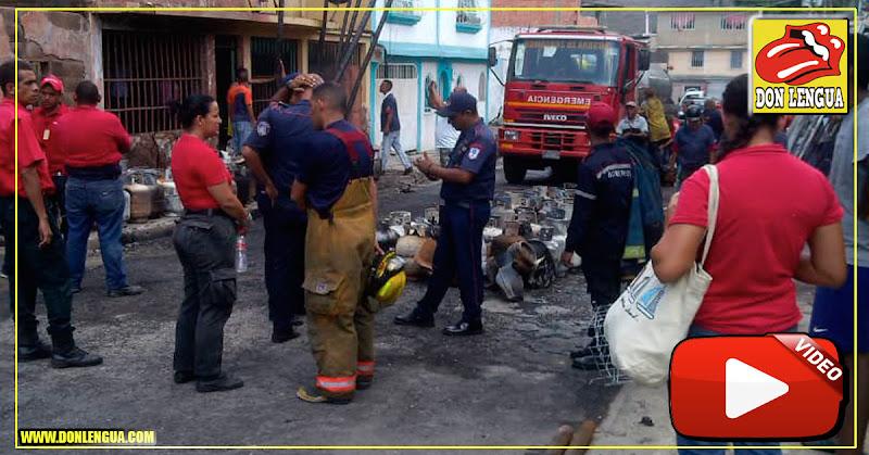Explotan bombonas de gas en un camión que circulaba por La Mora en Aragua