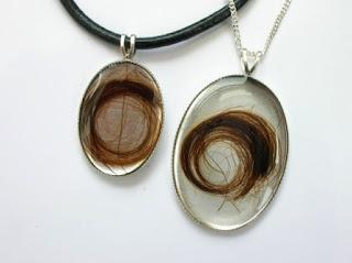 Matching pendants for locks of hair