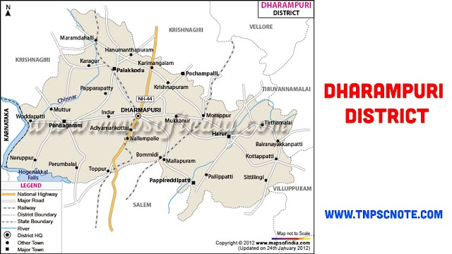 Dharmapuri District Information, Boundaries and History from Shankar IAS Academy