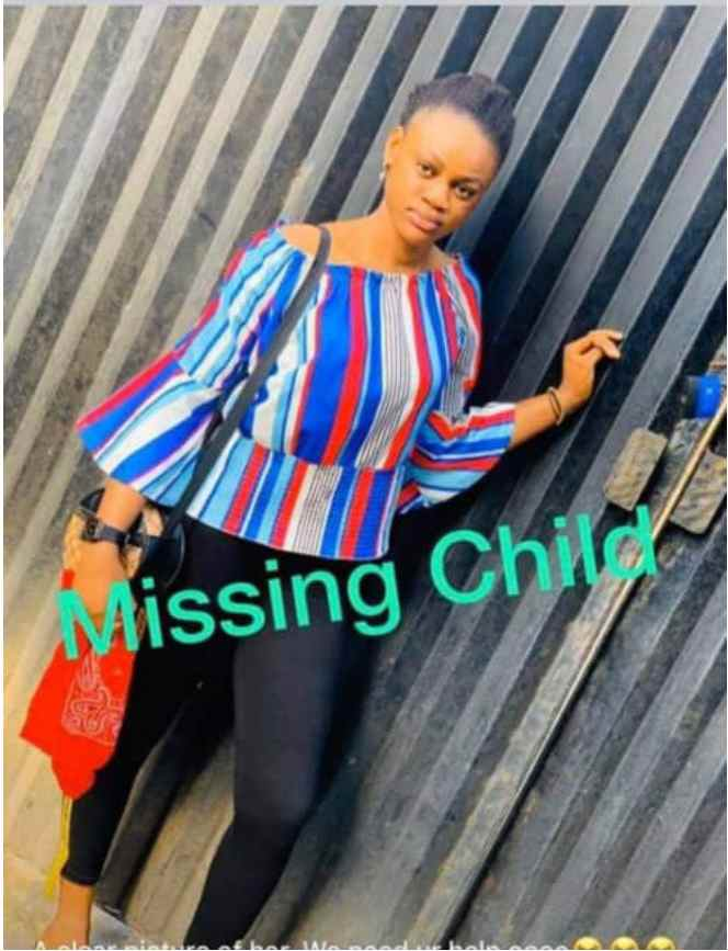 15-year-old young lady pronounced missing by her family
