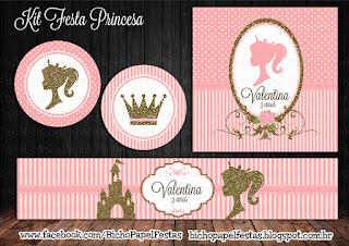 Kit Festa Princesa rosa