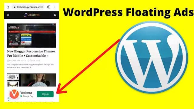 WordPress Floating Bottom Ads