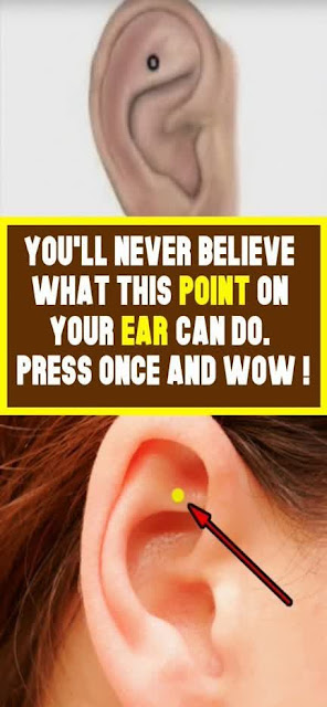 You'll never believe what this point on your ear can do. Press once and WOW