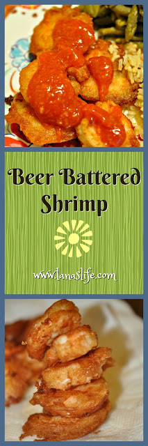 Beer Batter Shrimp is so crazy easy to make, but people will fall in love with it and beg you for the recipe.  Be warned, though, this recipe is NOT an exact science.  You need just three ingredients: beer, pancake flour, and shrimp.  That's it!
