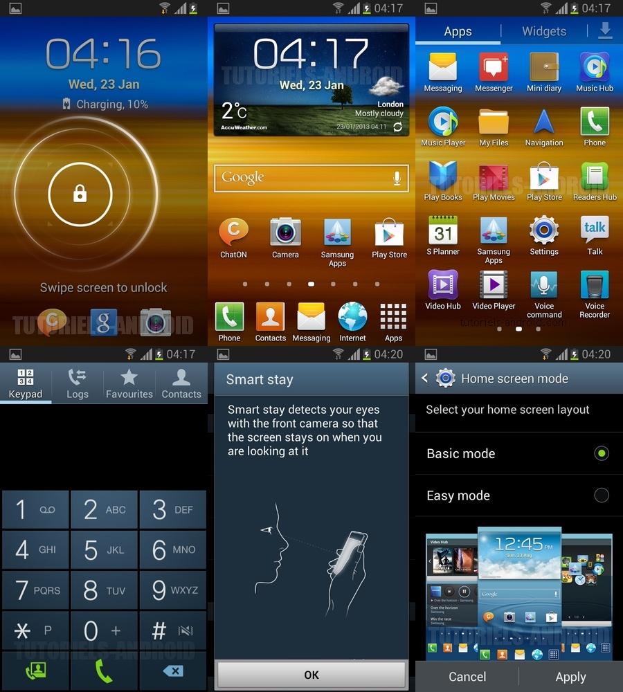 Captures : I9100PXXLSU Android 4.1.2
