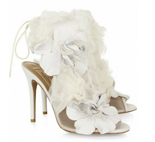 çiçekli gelin ayakkabısı