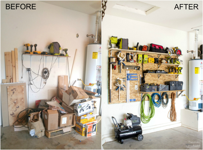 how to build a custom adjustable garage storage wall before after tutorial