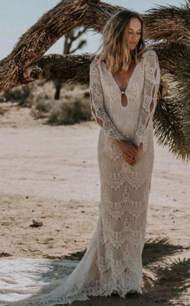 vestido simples de crochê