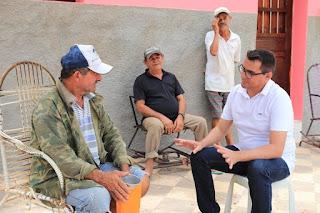 Prefeito Olivânio inspeciona obras em Santa Luzia do Seridó e moradores agradecem pela chegada dos benefícios