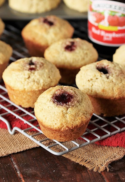 Buttermilk Jam Muffins on Cooling Rack Image