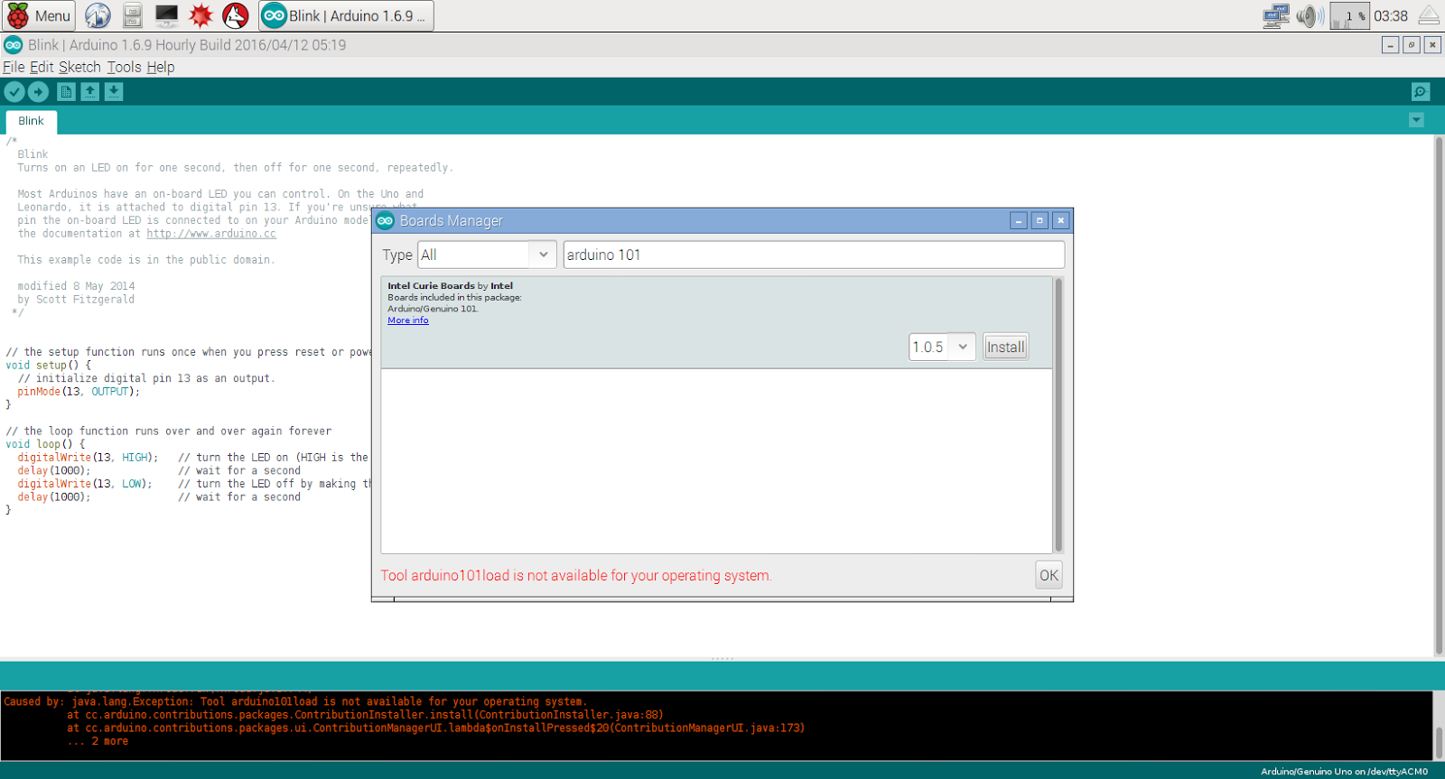 Hello raspberry pi install and run arduino ide on
