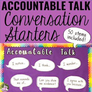 Cover of Accountable Talk Conversation Starters resource.
