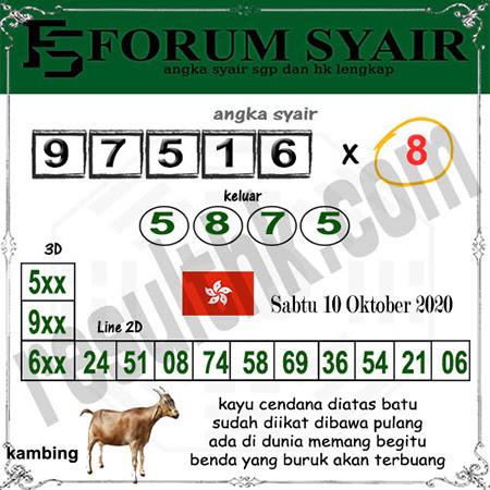 Forum Syair HK Sabtu 10 Oktober 2020