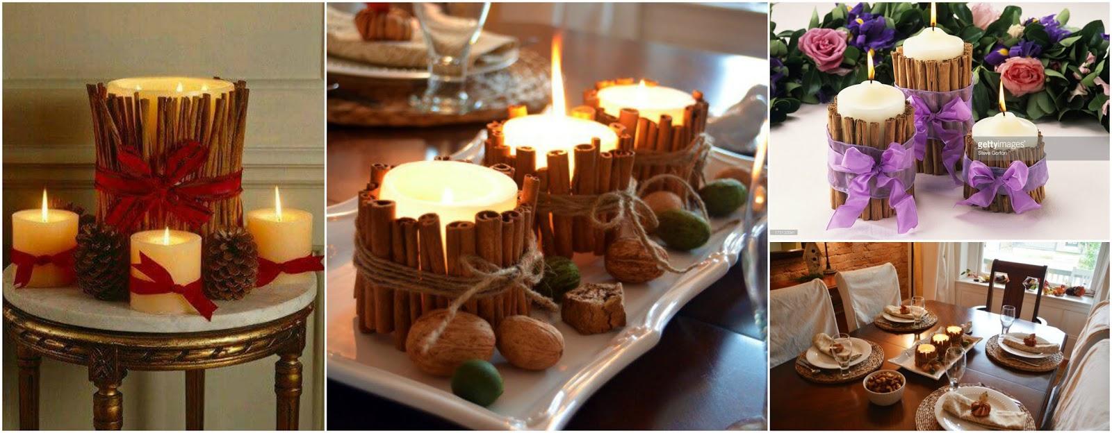 5 ideas f ciles para decorar velas con canela arom ticos - Decorar con velas ...