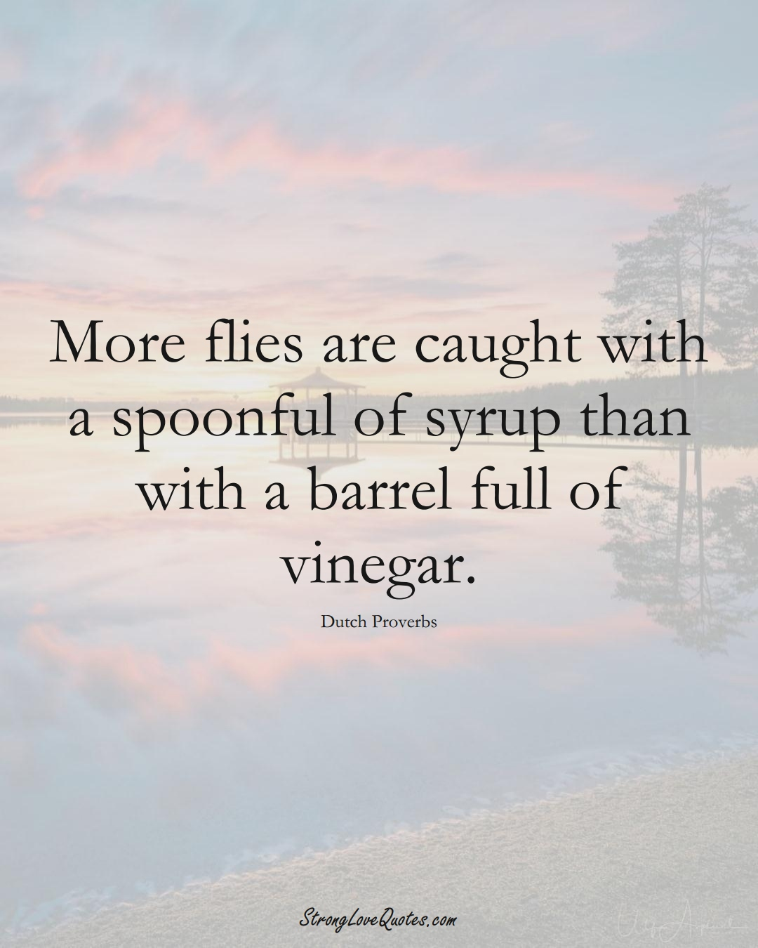 More flies are caught with a spoonful of syrup than with a barrel full of vinegar. (Dutch Sayings);  #EuropeanSayings