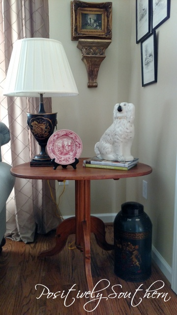 Decorating with Staffordshire and tole lamps