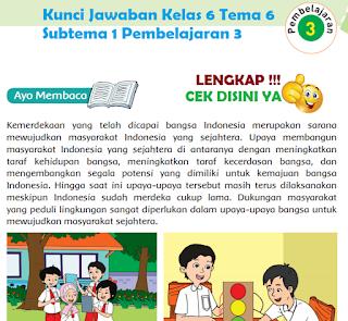 Kunci Jawaban Tematik Kelas 6 Tema 6 Subtema 1 Pembelajaran 3 www.simplenews.me