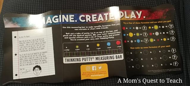 Imagine. Create. Play. Thinking Putty Mat