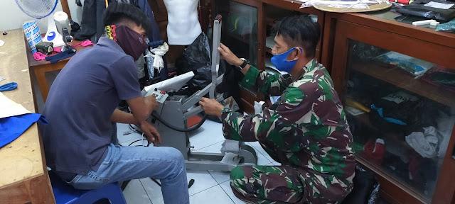 Anjangsana, Bati Wanwil Koramil 01 Karanganyar Komsos Dengan Percetakan dan Sablon