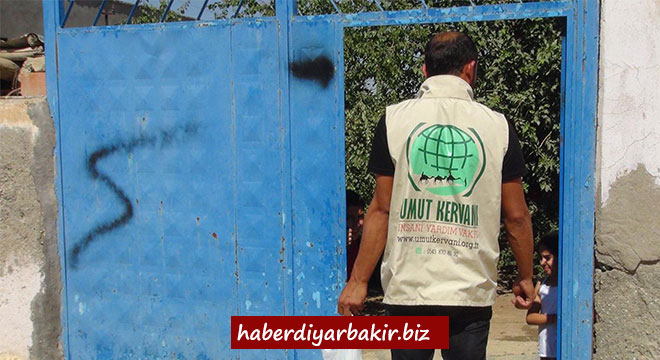 Umut Kervanı Vakfı, Çınar'da kurban eti dağıttı