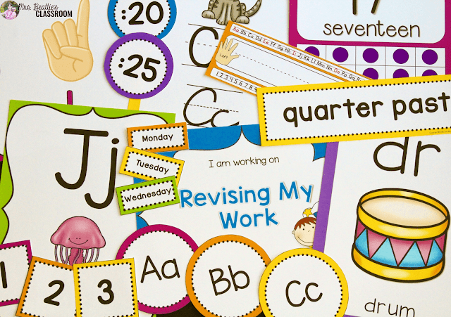 An image of classroom decor items.