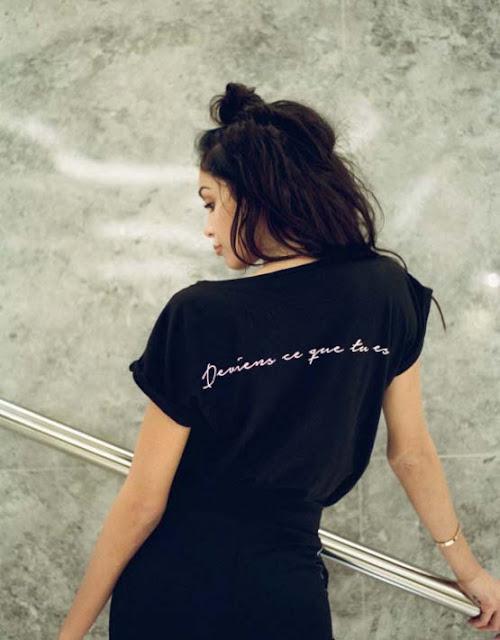 Collection capsule - Nabilla Benattia x YAYOU - T-shirt Deviens ce que tu es
