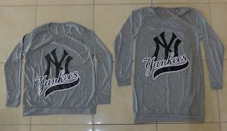 Jual Online Yankees Grey Murah Jakarta Bahan Spandex Terbaru.