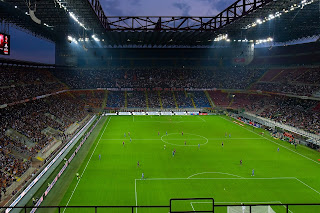 The spectacular Stadio Giuseppe Meazza at San Siro is home to Inter and AC Milan