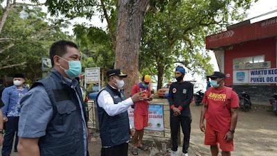 Wagub Jabar Tinjau Langsung Titik Penyekatan Objek Wisata Pangandaran