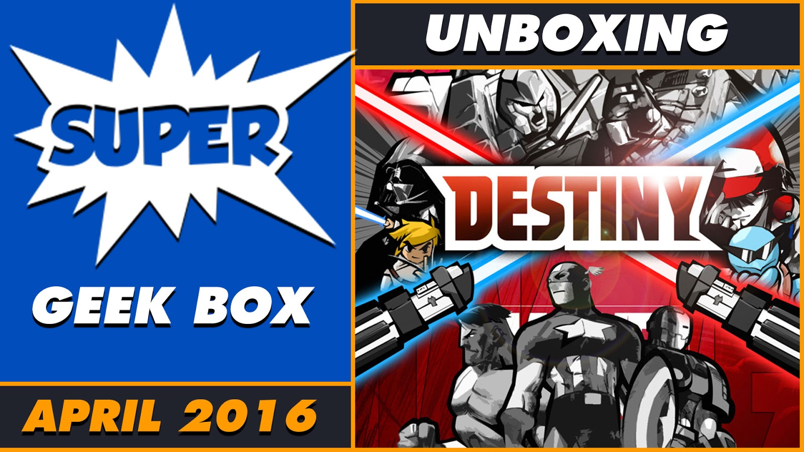 Unboxing Super Geek Box Destiny April 2016